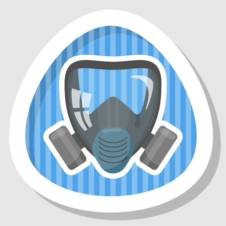 Respirator colorful icon. Vector illustration