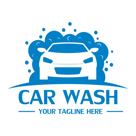 Car wash logo design template vector eps 10 Çizim