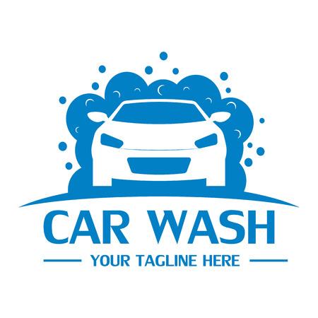 Car wash logo design template vector eps 10 Vectores