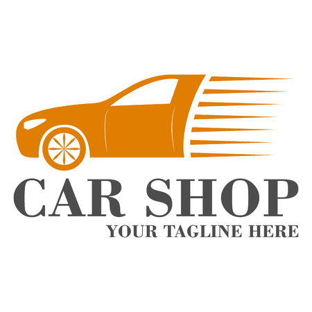 Autoverkaufslogo-Schablonendesignvektor ENV 10
