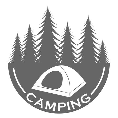wilderness area: Camping logo design template Illustration