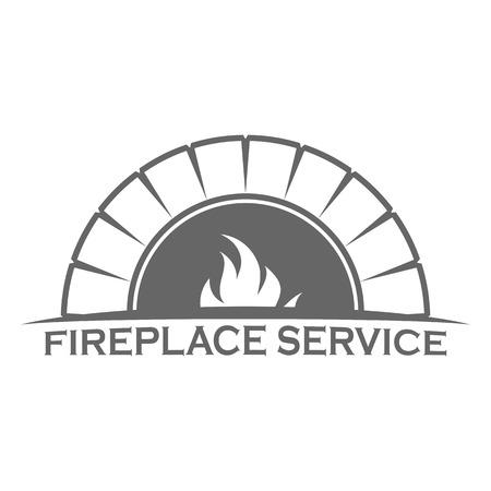 Modèle de conception de logo de cheminée
