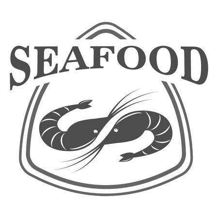 Meeresfrüchte-Logo-Design-Vorlage