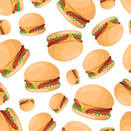 Hamburger pattern.