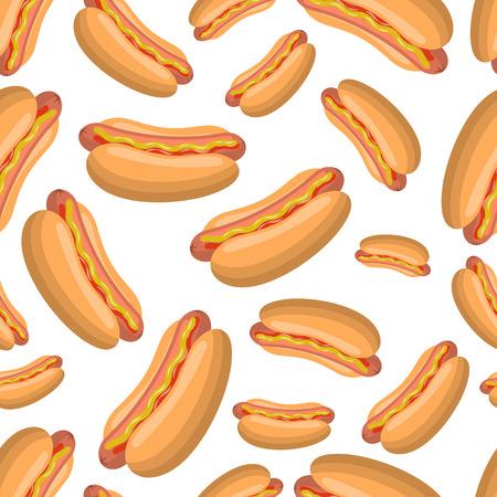 Hot dog sandwich pattern.
