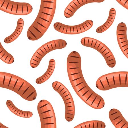 weiner: Sausages seamless pattern Illustration