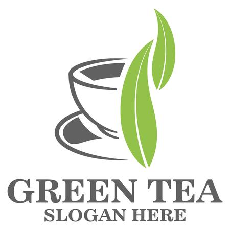 calendula: Green tea logo Illustration