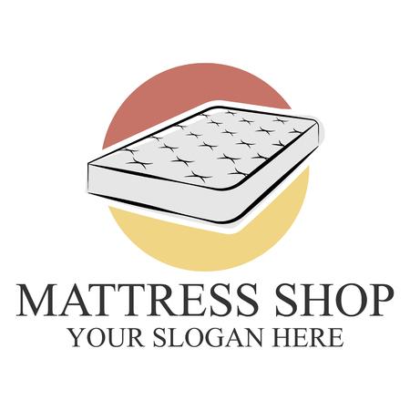 Mattress logo template