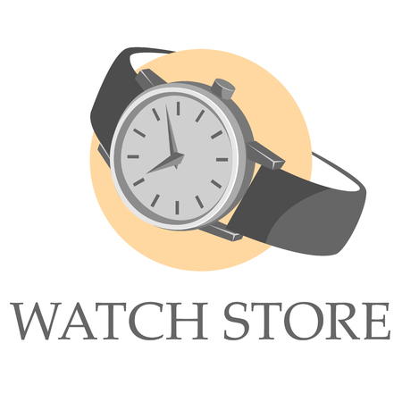 Watch store logo Иллюстрация