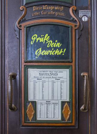 Historic bathroom scale