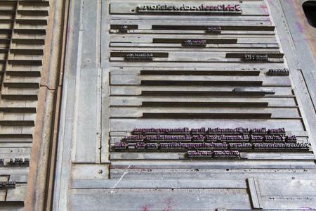Printing form in letterpress Stockfoto