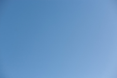 without clouds: blue sky on a sunny day without clouds on a day in autumn or fall. Stock Photo
