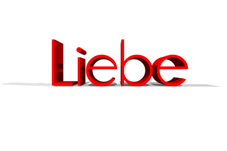 in liebe: The word liebe in 3 D Letters. Liebe means love in German Language.