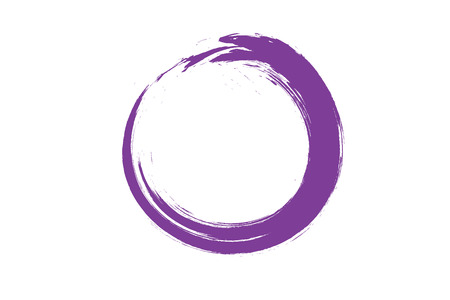 circle zen Painting, Illustration in violet color on white background.