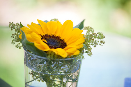 table decorations: sunflower table decorations