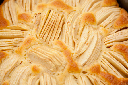 sunken: German Sunken Apple Cake in Spring Form Cake Tin