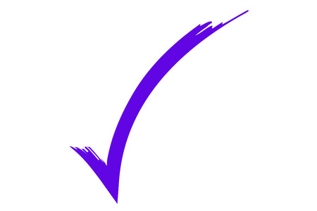 test passed: check sign, illustration of a check symbol.