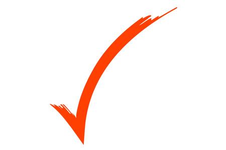 test passed: check sign, illustration of an orange check symbol.