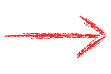 red arrows: arrow crayon drawing in many colors. You can use it for left, right up and down. Stock Photo