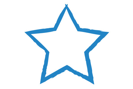 rough: Star Symbol in rough paint strokes in different colors