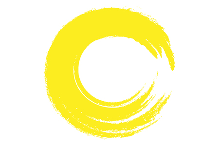 strokes: yellow circle illustration in rough paint strokes