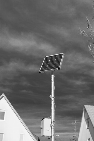 residental: solar panel in a residental area.
