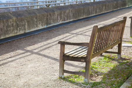 empty bench: Empty bench in a park in bavaria, germany.