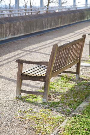 in bavaria: Empty bench in a park in bavaria, germany.
