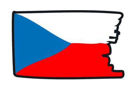 footbal: Croatia National Flag Illustration in raw paint strokes. Abstract look.