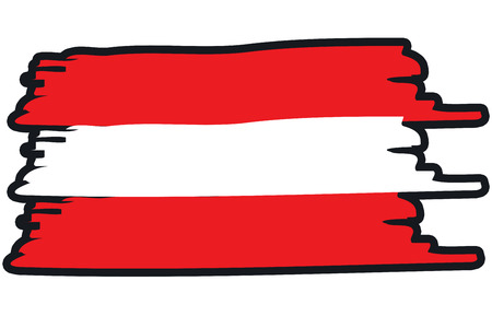 paint strokes: Austria National Flag Illustration in raw paint strokes. Abstract look.