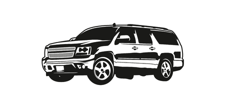 Vector illustration SUV or Sport Utility Vehicle