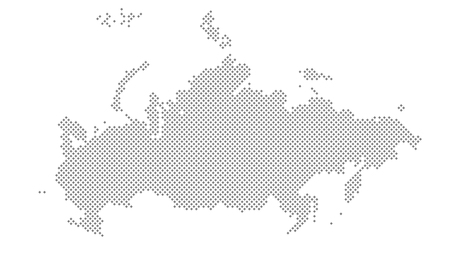 Vector Dotted Russia Map. A political map of the World. Diamond point