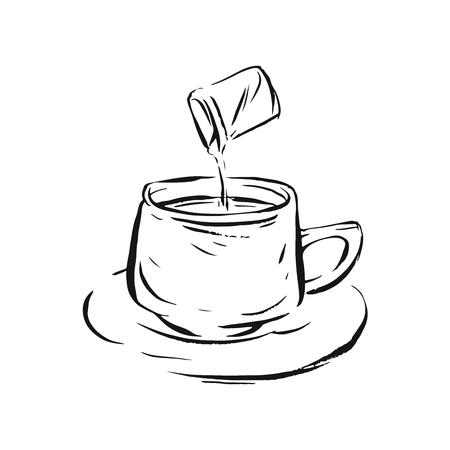 big vector set of coffee and tea