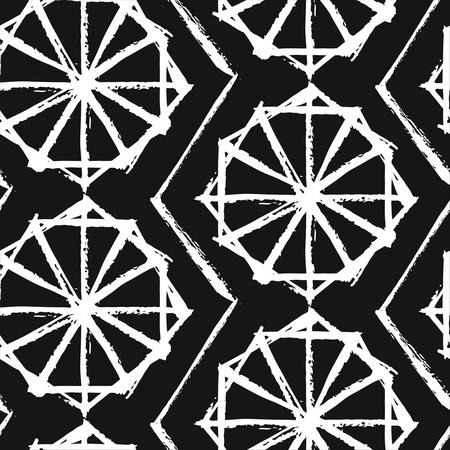 Ramadan Kareem textured vector seamless pattern with a modern lantern specially for Ramadan wishing and design.Hand made texture.Geometric islamic wallpaper.