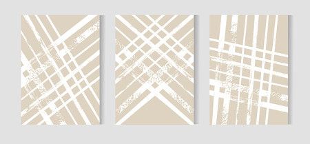 Hand drawn vector abstract geometric Christmas greeting cards design collection in pastel colors with white strokes.Holidays concept.Journaling cards.Unusual save the date cards set