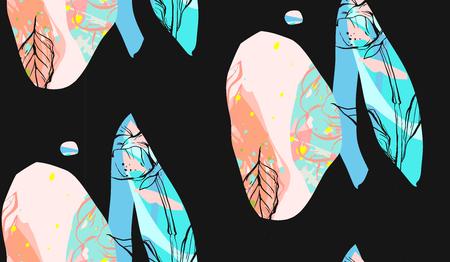 종이와 특이 한 카드의 컬렉션 꽃을 잘라. 아름 다운 자유형 다채로운 그림입니다. 포스터, 카드, 초대장, 현수막, 브로셔, 전단지를위한 디자인. 외딴