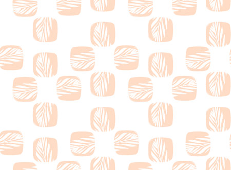 cartoom: Hand drawn vector abstract cartoom simple minimalistic unusual seamless pattern with tropical banana palm leaves isolated on white background