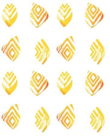 Vecteur dessiné à la main abstrait à main levée texturé collage de minimalisme sans soudure avec motif zèbre, textures organiques, triangles isolés sur fond blanc Banque d'images - 82724597