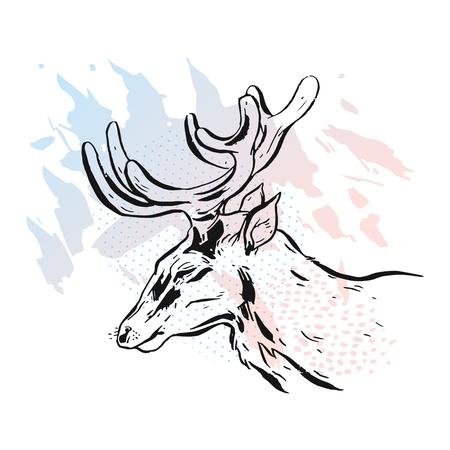 Deer on a white background. Deer unicorn. Cartoon deer. Deer emotions. Deer set. Deer animals. Deer art. Deer icon. Cute cartoon deer cartoon running animal character vector. Deer poster. Deer logo.
