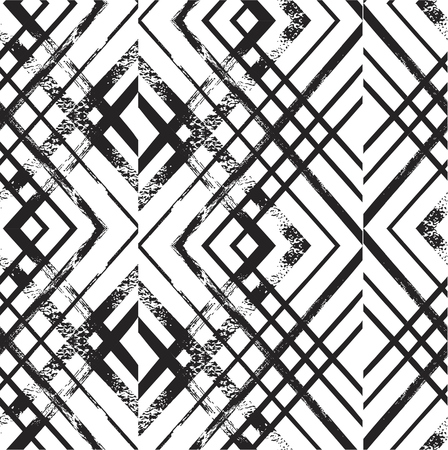 vector seamless rhombus pattern. endless texture black and white. abstract geometric ornament background.