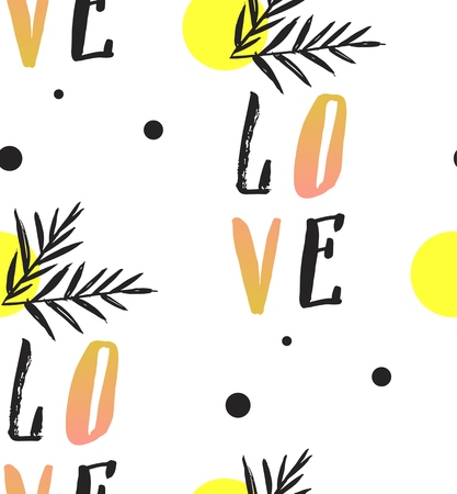 Love note Seamless text pattern with hearts. Text backgrounds applicable in printing, textiles , art objects , clothing , wallpaper , computer screensavers , games and applications . Ilustração