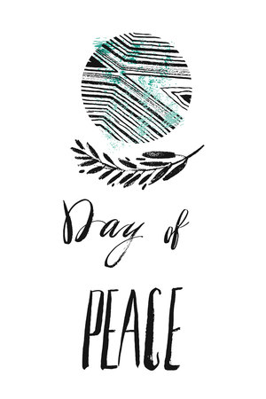 国際平和デーのイラスト  イラスト・ベクター素材