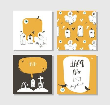 Set of Happy Halloween banners.