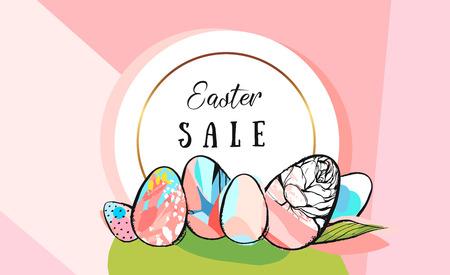 Easter sale banner. Illustration