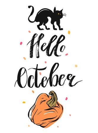 Hand drawn vector autumn illustraation Illustration