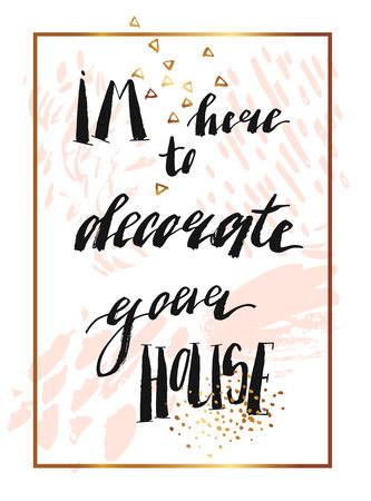 Hand drawn vector abstract texture artistic poster with handwritten modern lettering inspirational phase. 向量圖像