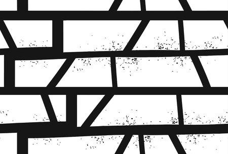抽象的な手描きのテクスチャー付きジオメトリックモチーフシームレスなパターンを白い背景に分離  イラスト・ベクター素材