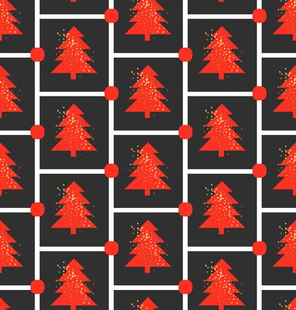 Christmas tree pattern Stock Illustratie