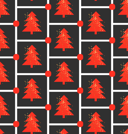 Christmas tree pattern Vectores