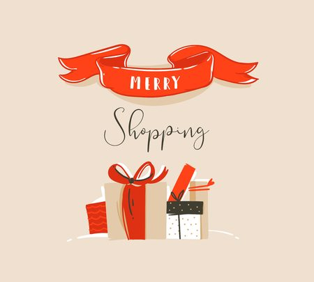 Frohe Weihnachten Karte Konzept Design Standard-Bild - 88084127